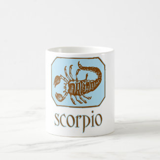 Escorpión azul antiguo taza