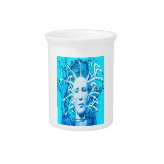 Escorpión azul jarra