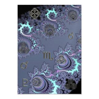"""Escorpión azul marino de la muestra del zodiaco invitación 5"""" x 7"""""""