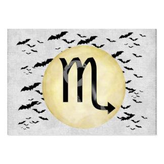 Escorpión de la luna del palo tarjetas de visita