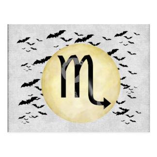 Escorpión de la luna del palo tarjetas postales