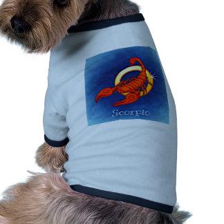 Escorpión de la muestra de la astrología camiseta con mangas para perro