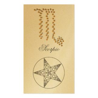 Escorpión de la señal (muestra del zodiaco) tarjetas personales