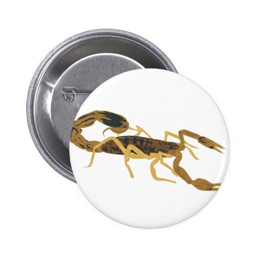 Escorpión de oro de Brown Pins