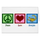 Escorpión del amor de la paz tarjetas