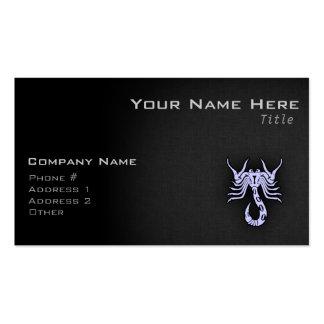 Escorpión del azul de la lavanda plantillas de tarjetas de visita