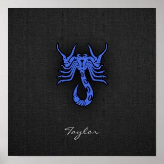 Escorpión del azul real póster