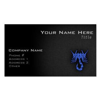 Escorpión del azul real tarjeta personal