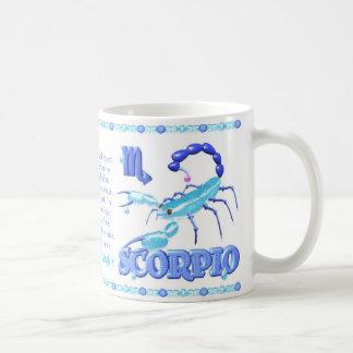 Escorpión del dragón de agua del zodiaco de taza de café