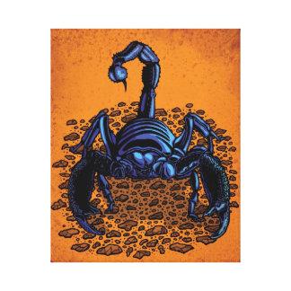 Escorpión del emperador lona envuelta para galerias