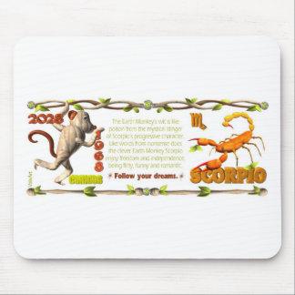 Escorpión del mono de la tierra del zodiaco de Val Alfombrilla De Ratones