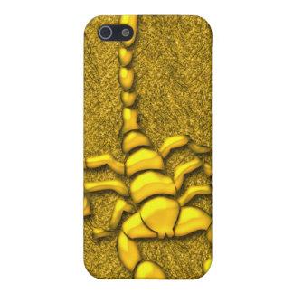 Escorpión del oro iPhone 5 fundas