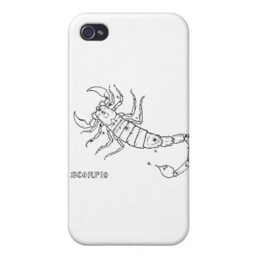 Escorpión del vintage iPhone 4 cobertura
