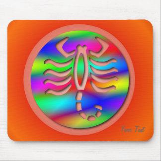 Escorpión del zodiaco del color del arco iris del  alfombrilla de raton