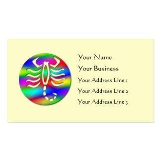 Escorpión del zodiaco del color del arco iris del  tarjetas de visita