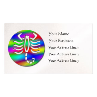 Escorpión del zodiaco del color del arco iris del  tarjeta de visita