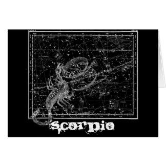 Escorpión, el escorpión tarjeta de felicitación