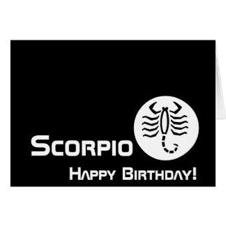 ¡Escorpión, feliz cumpleaños! - Personalizar Felicitación