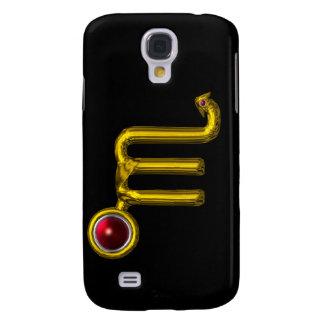 ESCORPIÓN, granada roja y oro Funda Para Galaxy S4