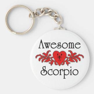 Escorpión impresionante llavero redondo tipo pin