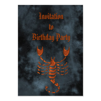 """Escorpión Invitación 5"""" X 7"""""""