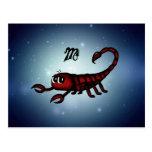 escorpión lindo postal