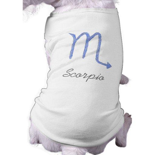 Escorpión. Muestra de la astrología del zodiaco. A Playera Sin Mangas Para Perro