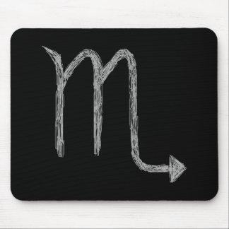 Escorpión. Muestra de la astrología del zodiaco. N Mouse Pad