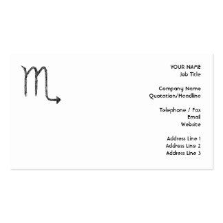 Escorpión. Muestra de la astrología del zodiaco. N Tarjeta De Visita