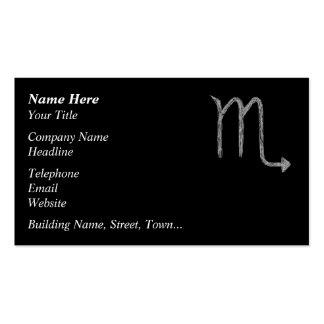Escorpión. Muestra de la astrología del zodiaco. N Plantilla De Tarjeta Personal