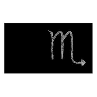 Escorpión. Muestra de la astrología del zodiaco. N Tarjetas Personales