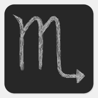 Escorpión. Muestra de la astrología del zodiaco. Pegatina Cuadrada