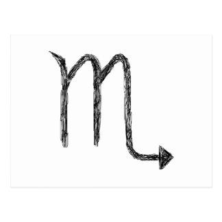 Escorpión. Muestra de la astrología del zodiaco. Tarjeta Postal