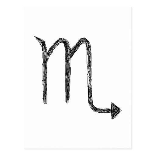 Escorpión. Muestra de la astrología del zodiaco Postales