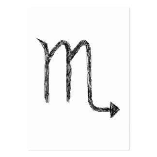 Escorpión. Muestra de la astrología del zodiaco Tarjetas De Visita Grandes