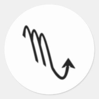 Escorpión, muestra del zodiaco pegatina redonda