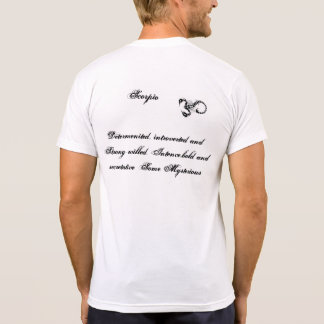 escorpión negro/blanco de la camiseta playeras