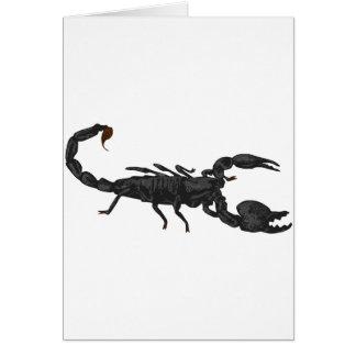 Escorpión negro imperial tarjetas