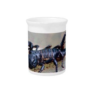 Escorpión negro jarra de beber