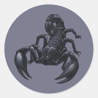 Escorpión Pegatinas Redondas