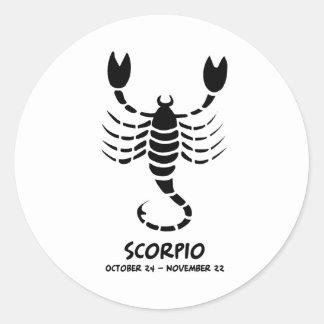 Escorpión Pegatina Redonda