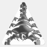 Escorpión Pegatina Triangular
