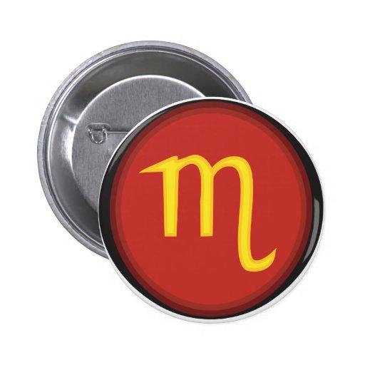 Escorpión Pin Redondo 5 Cm