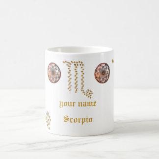escorpión protagonizado de la taza