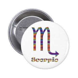 Escorpión psicodélico pins