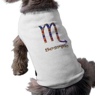 Escorpión psicodélico playera sin mangas para perro