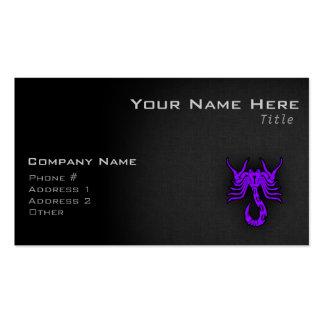 Escorpión púrpura violeta tarjetas de visita