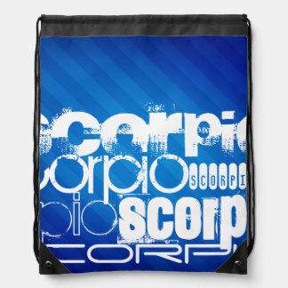 Escorpión; Rayas azules reales Mochila