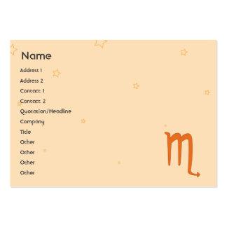 Escorpión - rechoncho tarjetas de visita