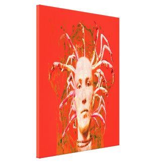 Escorpión rojo lona estirada galerias